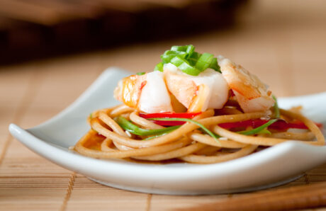 Soba Noodle and Shrimp Appetizer