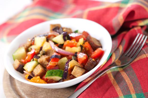 Panzanella salad - umami rich and glutamate rich