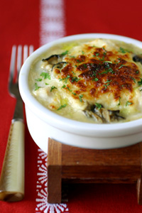 umami recipe for cod and oyster gratin