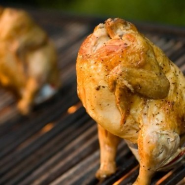 Beer Can Roasted Chicken