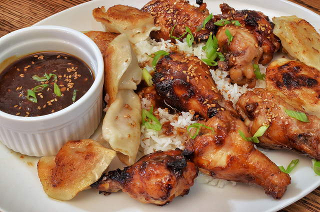 Ginger and sesame chicken wings