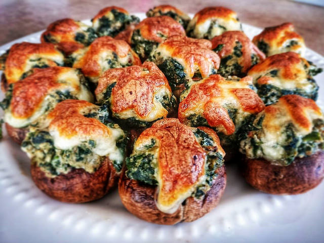 Spinach Cheese Stuffed Mushrooms Recipe