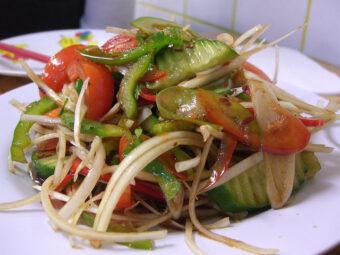 Spicy-Hot Cold Noodle Salad Recipe