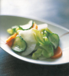 Japanese cooking - vegetable pickles