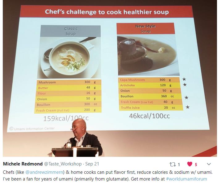 Healthier soup with umami