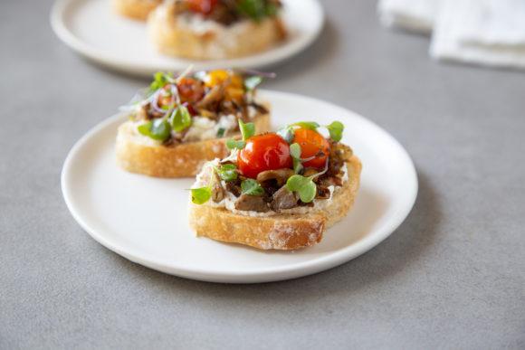 mushroom toast with ricotta