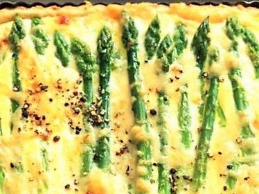 Ricotta Asparagus Quiche